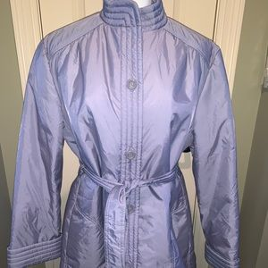Bromleigh belted. Coat Sz 14 Insulated Lilac